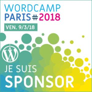 Sponsor WordCamp Paris 2018